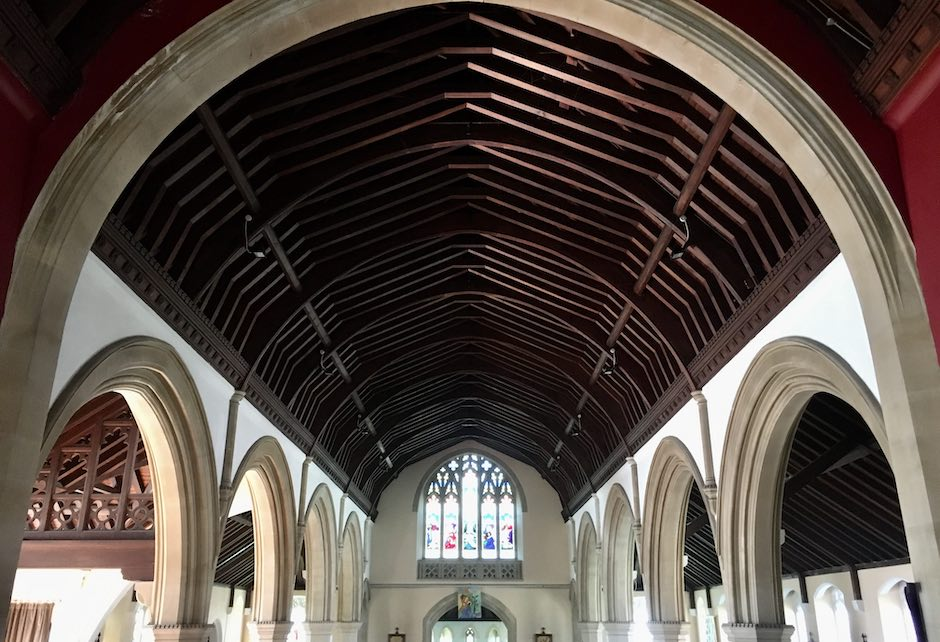 View of Nave ceiling